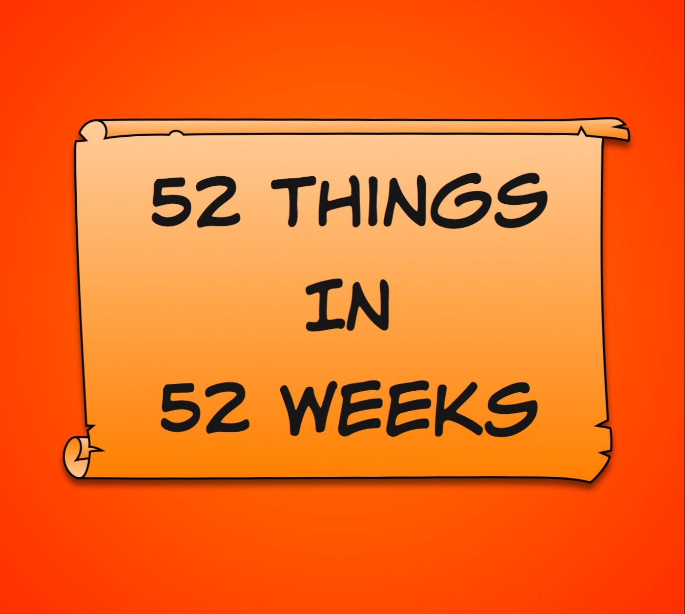 52 items in 52 weeks