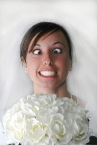 A crazy bride on the wedding day if I don't stop feeling worn out